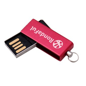 Rondaful Red USB Flash Drive Metal Pendrive USB Stick 8GB Pen Drive Storage Device U Disk - Intl (Intl)