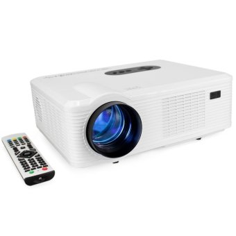Excelvan CL720 LED Projector 3000 Lumens 1280 x 800 Pixels with Analog TV Interface (White)(INTL)