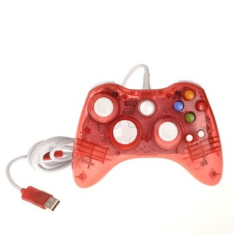 Wired USB LED Remote Controller Gaming Gamepad Joystick for Xbox 360 (Red) (Intl)