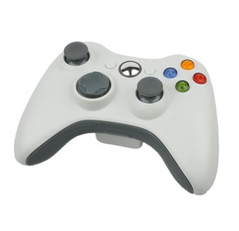 Wireless Game Remote Controller + Powered USB Port for Microsoft Xbox 360 Console (White) (Intl)