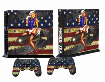 Battle Design Skin for PlayStation 4 System PS4 Torn Stripes (Intl)