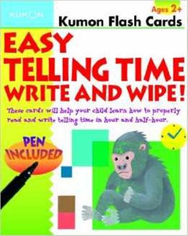 Tiyo Tiyo Books - Flashcards : Easy Telling Time Write & Wipe