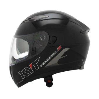 harga KYT Helm Full Face Vendeta 2 Solid Black Met Lazada.co.id