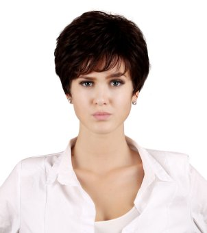 Reaty 9 Inches Women's Wigs New Short Vintage Bobo Hair for Party Costume (Dark Brown) (Intl)