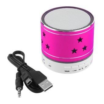 Allwin S812 Wireless Bluetooth Handsfree Mini Music Speaker For Phone Laptop PC Rose Red (Intl)