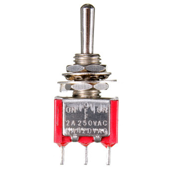 3 Pin ON-OFF-ON 3 Posizione SPDT Levetta Toggle Interruttore AC 6A/125V 3A/250V (Intl)