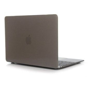 Laptop Hard Case For Apple MacBook 12 Inch Crystal Protective Cover Case(Grey) - Intl