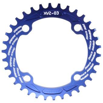 Bicycle Bike Single Narrow Wide Chain Ringx104BCD Blue 34T- Intl