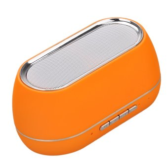 TF Card Slot FM USB Bluetooth Mini Stereo Speaker with Mic (Intl)