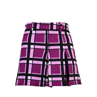 PGM 2016 Ladies Fashion Golf Skirt Culottes (Purple Plaid) (Intl)