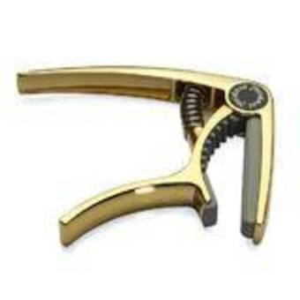 HKS Alloy Quick Change Trigger Capo Key Clamp for Ukulele Golden - Intl
