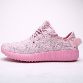 Men shoes Couple shoesBreathable Running Shoes Yeezy Boost Sport Shoes cl531g-pink-35 (Intl)