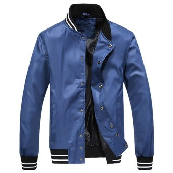 Men's Fashion Jacket and Coat Blue(INTL)
