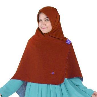 harga Hijab Alila Gamis Neo Perdana - Coklat Lazada.co.id