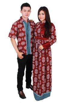 Batik Putri Ayu Batik Sarimbit Putri Ayu Solo SRG99 - Merah