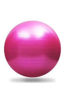 JustCreat 55cm Fitness Ball Yoga Ball Fitness Ball Gymnastics Grand Dragon Ball Massage Ball (Rose Red)