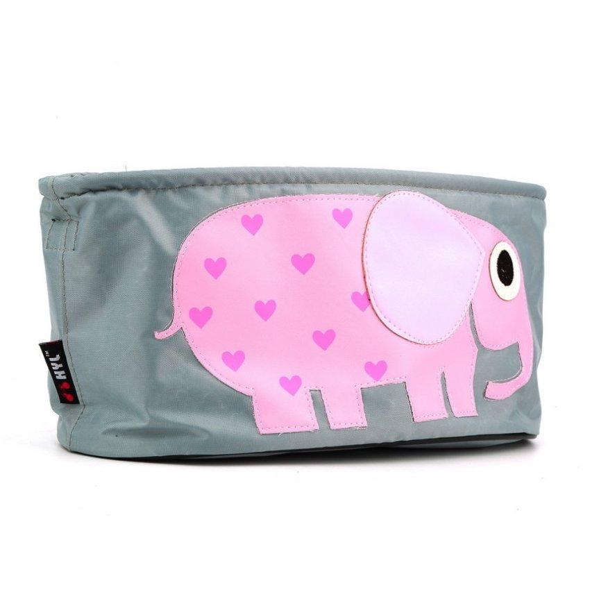 Waterproof Cartoon Animal Trolley Storage Hang Bag for Stroller Baby Carriage red (Intl)