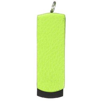 S and F 4GB USB 2.0 Leather Swivel Flash Memory Stick Pen Drive Storage (Yellow Green) - Intl