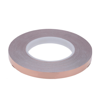 10mm x 50m One Side Copper Foil Tape EMI Shielding Single Conductive Adhesive for Guitar (Intl)