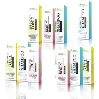 Green Angelica Paket 3 Maximal Penumbuh Rambut Alami Cepat Dan Obat Kerontokan Rambut Gratis 1 Shampo
