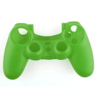 Generic Soft Silicone Gel Protective Skin for PS4 Controller - Green