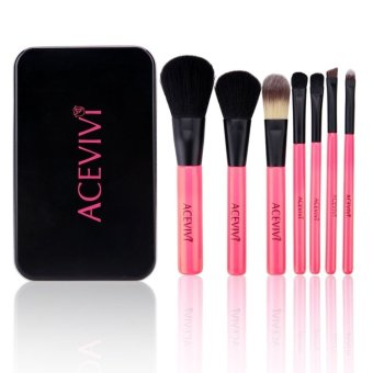 7pcs Soft Cosmetic Tool Makeup Brush Set Kit with Iron Box - Intl