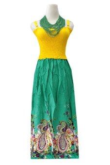 Kampung Souvenir - Long Dress Kartika - Ethnic Turquoise