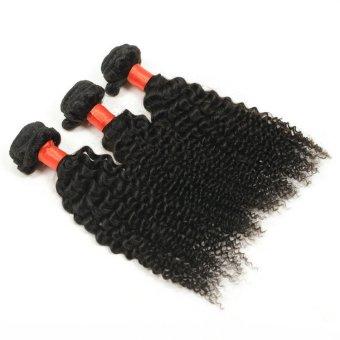 "3 Bundles Lot 28"" 7A Grade Indian Afro Kinky curly virgin Human Hair Weft - Intl"