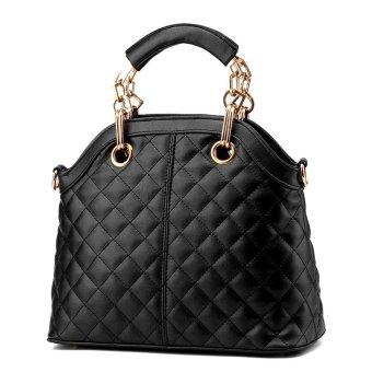 Women Messenger Bags Leather Handbags Casual Crossbody Bags for Women black - Intl