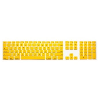 Keyboard protector 12 Inch for Apple One Machine (Yellow) - Intl