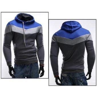 Men's Casual Jackets Sweatshirt Mens Coat Hoodies(Iron gray) - Intl