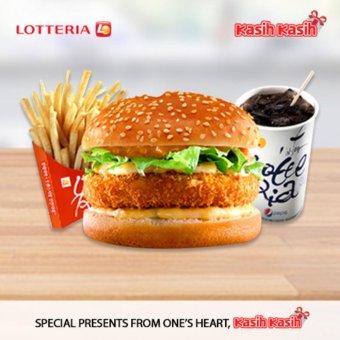 Lotteria Shrimp Burger Set