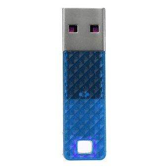4G 4GB Geometry Lattice Facet USB 2.0 Flash Drive Memory Stick Storage Thumb U Disk Blue - Intl