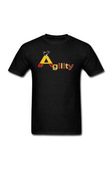 Men's Agility Big A Customize T-Shirt for black - Intl