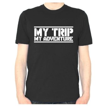 Gallery Panda Clothing T-Shirt My Trip My Adventure - Hitam