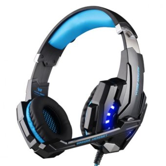 KOTION EACH G9000 USB 7.1 Surround Sound Version Gaming Headphone with Microphone LED Light for PC(Black & Blue) - INTL