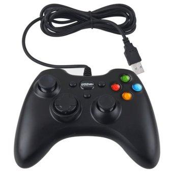 Cyber Wired USB Controller Gamepad Joystick Joypad for PC Computer Laptop Game Black (Black) - Intl