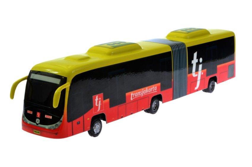 harga A1Toys TRANSJAKARTA bus gandeng Zhong Tong miniatur bus 27 cm Lazada.co.id