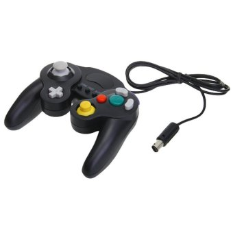 Generic Wired Shock Gamepad Joystick for Nintendo Gamecube NGC Wii - Black