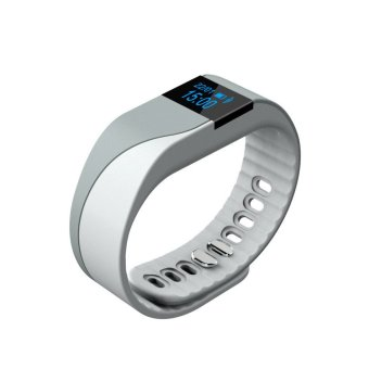 JTS M2s Sport Watch Smart Bracelet Wristband with Pedometer, calorie consumption, distance calculation, sleep monitoring,Call reminder,Remote camera control,Find phone, and Anti lost reminder (Grey) - Intl