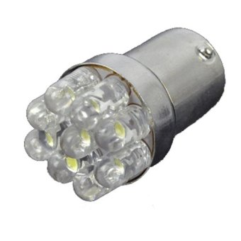 GETEK Tail Brake 4 x Car 1156 382 Turn Signals 9 LED Bulbs Lamp (White) (Intl)