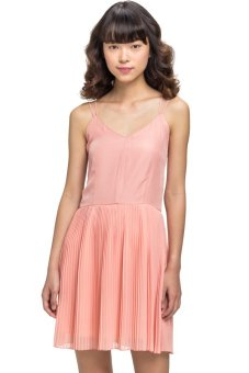 LZD Pleated Strappy Sundress Pink