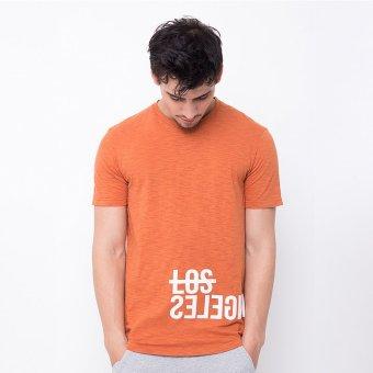 Rave Habbit Men T-Shirt Zipper Los Angeles Orange