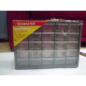 harga Kenmaster Rak Kotak Box Komponen Spare part Toolbox Tool Kit Tempat Kunci Organizer Drawer Susun 25 slot laci Lazada.co.id