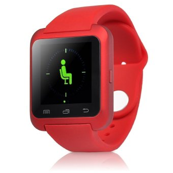 Bluetooth 4.0 Smart Wrist Wrap Watch Phone for Android and iOS Smartphone (Red) (Intl)