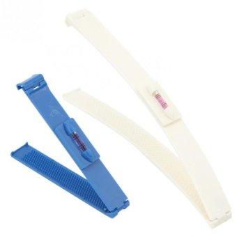 4pcs Women Fringe Bangs Hair Brush Tail Comb Salon Tool DIY Hair Cut Tool White Blue- Intl