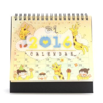 New 2016 Cartoon Calendar Desk Table Office Flip Stand Planner Memo Daily Yearly- Intl