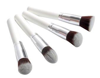 landor 4 Pieces Pro Foundation Makeup Tool Cosmetic Brush Blending Face Eye Brush Kit Sets,White - Intl