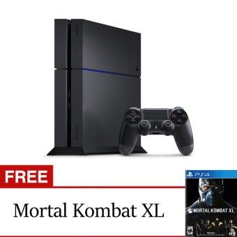Sony PlayStation 4 Garansi Sony 500GB CUH 1206A-B01 Jet Black + Mortal Kombat XL