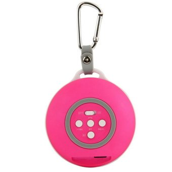 Bluetooth Speaker with Built-in Rechargeable Battery (Magenta) - Intl